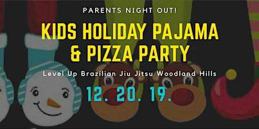 Kids Holiday Pajama and Pizza Party at Level Up Jiu Jitsu Woodland Hills