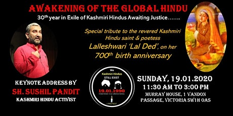 Awakening of the Global Hindu: 30th Year in Exile of Kashmiri Hindus Awaiting Justice tickets
