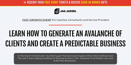 HOW TO GENERATE AN AVALANCHE OF CLIENTS & CREATE A PREDICTABLE BUSINESS tickets