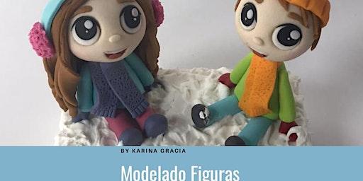 """Modelado de Figuras """"Snow Kids""""  la Chef Karina Gracia en Anna Ruíz Store"""