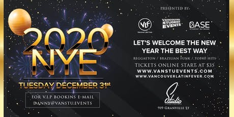 New Year's Eve Party 2020 at Studio Nightclub tickets