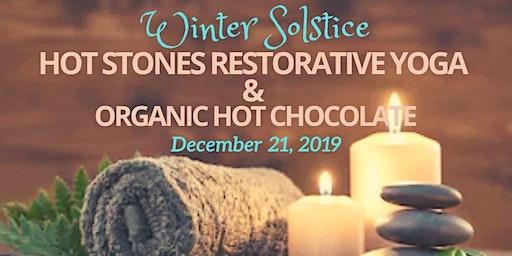 Celebrate Winter Solstice with Hot Stones Restorative Yoga & Organic Hot Cocoa
