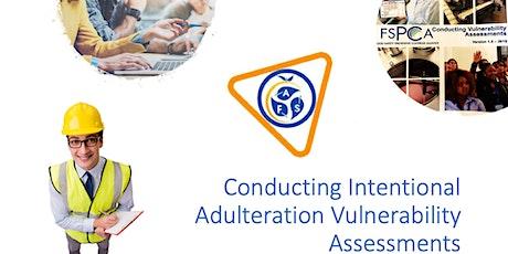 Tulrock, CA  FSPCA Course Conducting Vulnerability Assessments 21CFR121 tickets