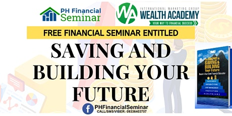 Saving and Building Your Future Iligan City tickets
