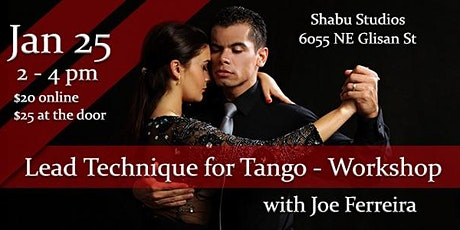 Lead Technique For Tango Workshop tickets