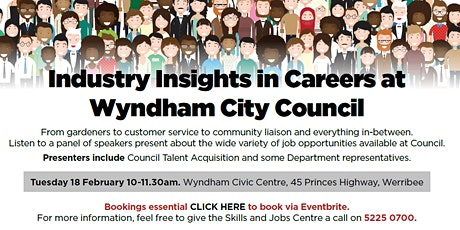 Industry Insights in Careers at Wyndham City Council tickets