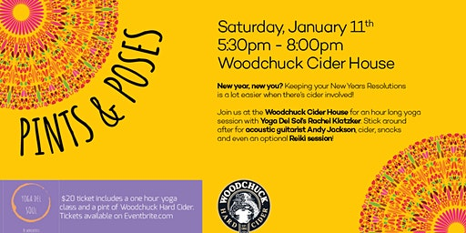 Pints & Poses at Woodchuck Cider House