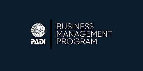 PADI Business Management Program - Cebu tickets