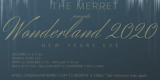 Wonderland 2020 - NYE at The Merret