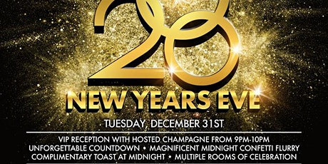 Onyx Room presents New Year's Eve 2020 tickets