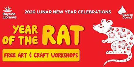 Lunar New Year - The Year of the Rat -Origami tickets