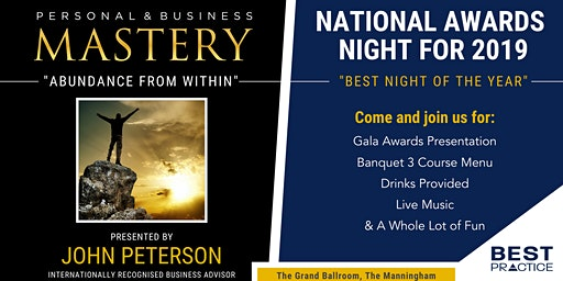 Personal & Business Mastery / Best Practice Awards Night