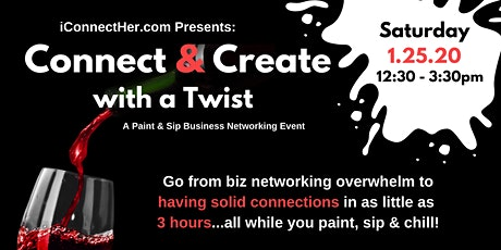 Connect & Create with a Twist: A Paint and Sip Business Networking Event tickets