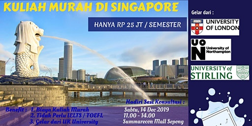 Info Session Kuliah Murah di Singapore