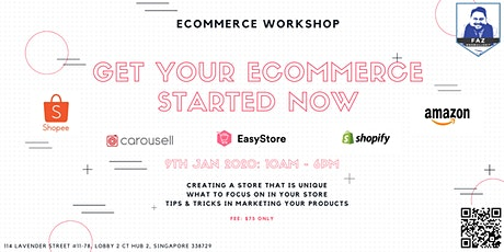 ECOMMERCE IS FOR YOU - Setting Up & Marketing Your Online Store Workshop tickets