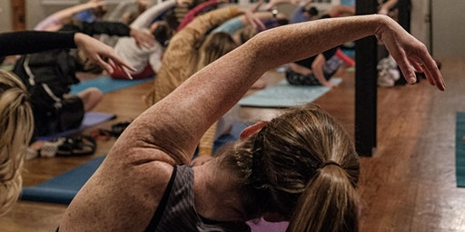 Yoga + Mimosas at Big River Running Company