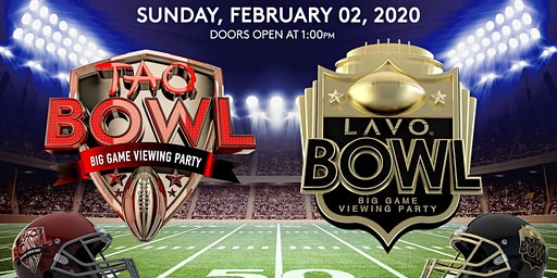 TAO BOWL! BIG GAME VIEWING PARTY FEB. 2, 2020