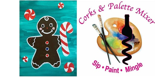 Kids paint and snack gingerbread kid