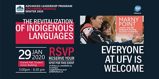 ALP Module: The Revitalization of Indigenous Languages. With Marny Point