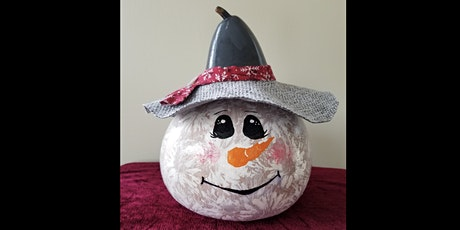 Snowman Gourd painting 1/18 tickets