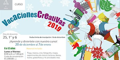 Vacaciones Creativas 2019 entradas
