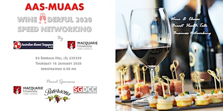 AAS-MUAAS WINE•DERFUL 2020 SPEED NETWORKING tickets