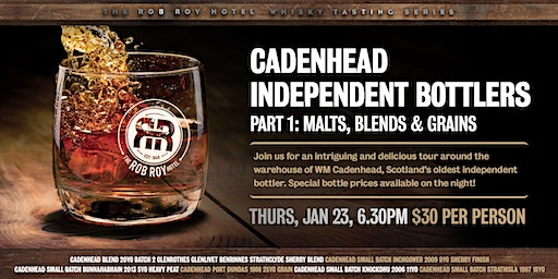 Join us for an intriguing and delicious tour of WM Cadenhead.