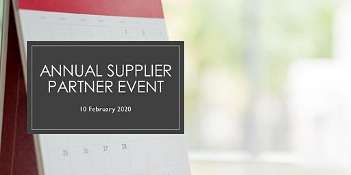 Annual Supplier Partner Update