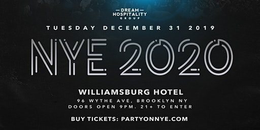 The Williamsburg Hotel NYE 2020 Tuesday December 31