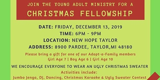 Young Adult Ministry Christian Fellowship