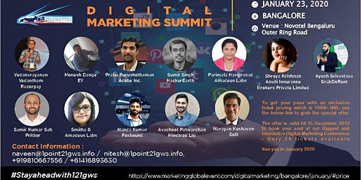 Digital Marketing Summit|Bangalore|23 January 2020