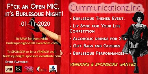Fuck n' Open Mic, It's Burlesque Night - Sponsors