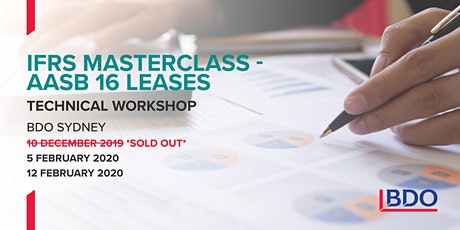 IFRS Masterclass - AASB 16 Leases tickets