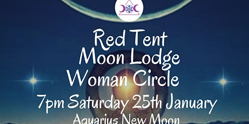 January Red Tent Moon Lodge Woman Circle