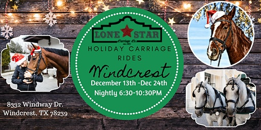 Holiday in Windcrest Horse Drawn Carriage Tour 2019