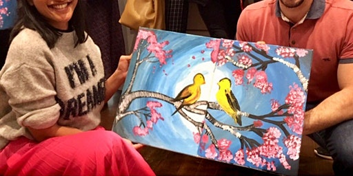 Paint & Sip Workshop, Date night, Pair-up Painting