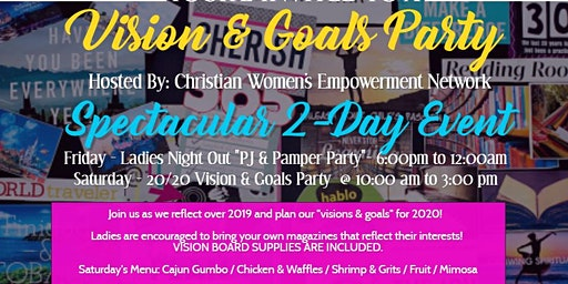 """2020 Vision, Goals & Networking """"2-DAY Event""""!"""
