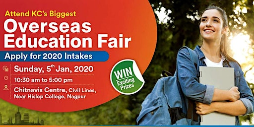 Attend Overseas Education Fair in Nagpur - 5th Jan 2020 | Free Entry