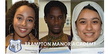 Brampton Manor Sixth Form Open Evening tickets