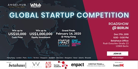 Global Startup Competition - Berlin roadshow - AngelHub & WHub Tickets