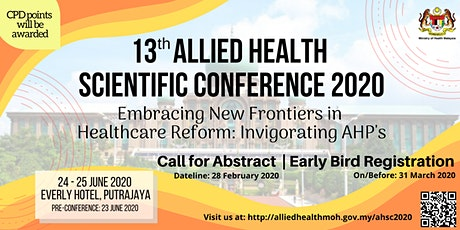 13th Allied Health Scientific Conference 2020 tickets