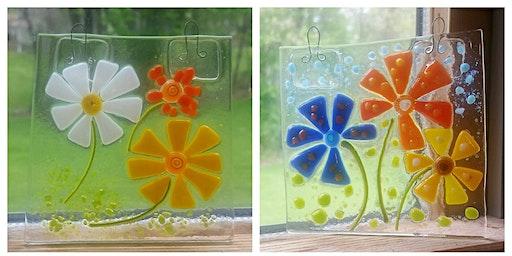 Sold Out Glass Flower Window Art Wyandotte Modern Craft Winery