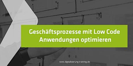 Geschäftsprozesse mit Low Code Anwendungen optimieren Tickets