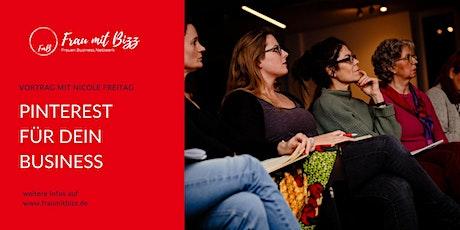 Pinterest für Dein Business, Grundlagen, Strategien & Tools | Frau mit Bizz Tickets