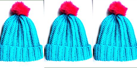 Beginner crochet- Bobble hats tickets