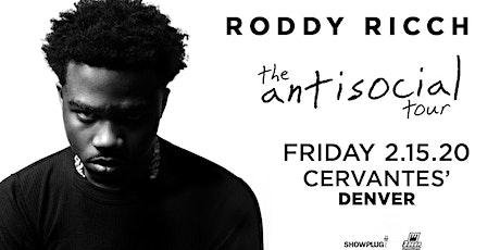 Roddy Ricch - The Anti Social Tour tickets