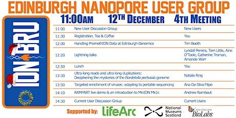 4th Edinburgh Nanopore User Group (ION_BRU) Meeting tickets