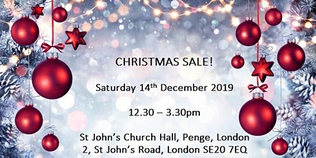 Christmas Pop Up Sale in Penge, London SE20! Free entry on the door! tickets