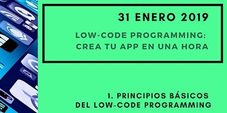 Low-Code Programming: Construye una APP en una HORA entradas