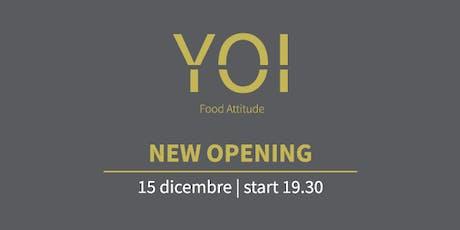 Inaugurazione Yoi Food Attitude tickets